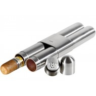 Tubo Humidor Adorini per 2 sigari - argento